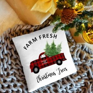 Other - 🆕 Christmas Tree Farm Cushion Pillow Cover New